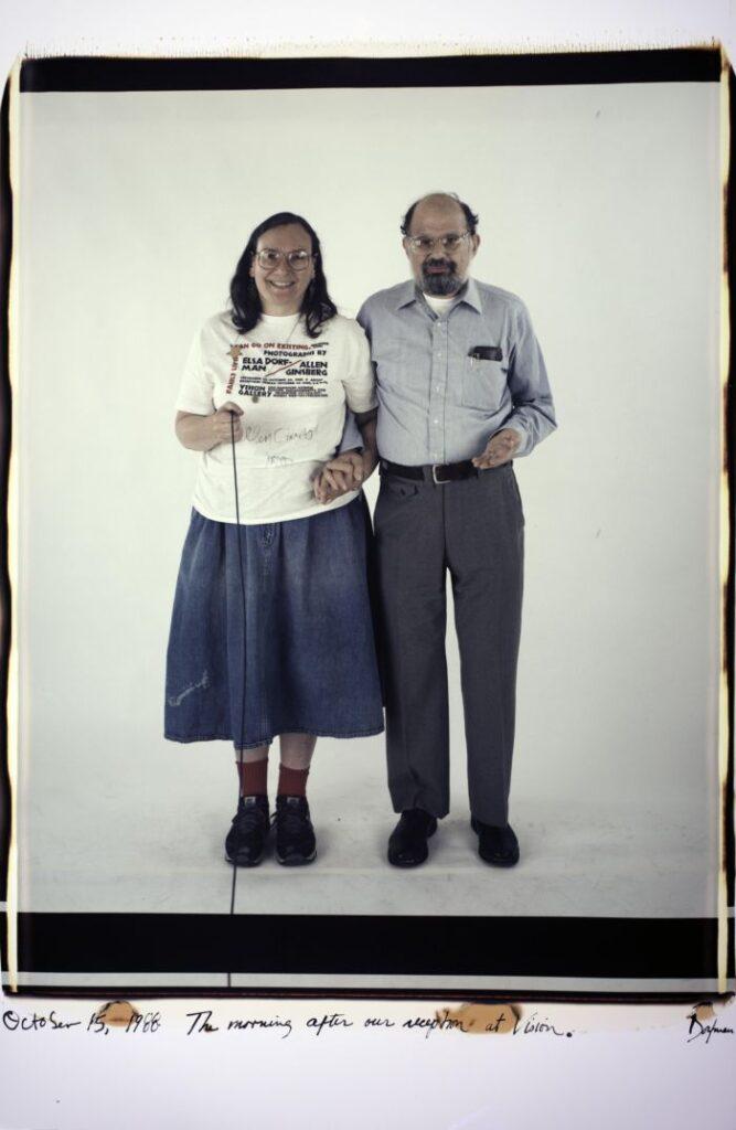 Autorretrato en color dela fotógrafa Elsa Dorfman y el poeta de la generación Beat Allen Ginsberg