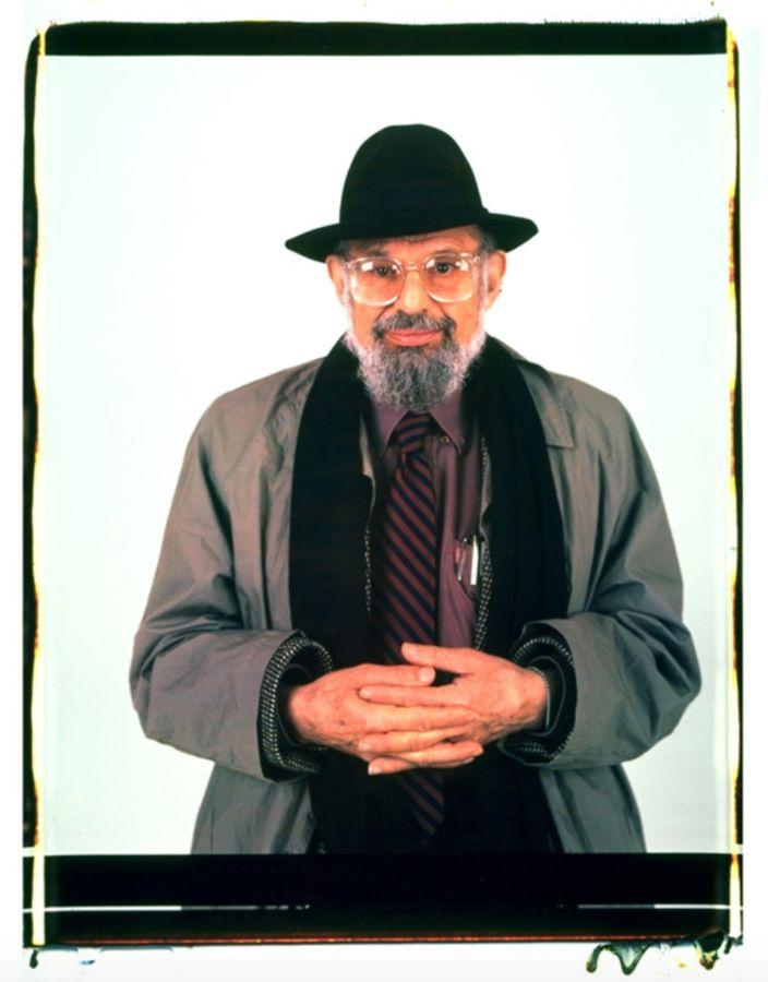 Retrato del poeta y escritor estadounidense Allen Ginsberg hecho por Elsa Dorfman con su Polaroid 20x24