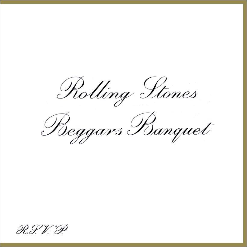 Imagen de la portada de la primera edición del disco Beggars Banquet de los Rolling Stones