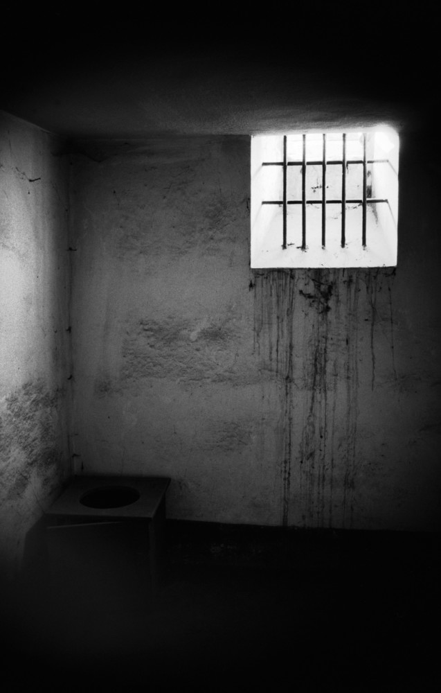 Polonia, Oswiecim, 1994. Celda de castigo en el barracón de la muerte de Auschwitz. Foto: Erich Hartmann (Magnum), en el libro 'In the camps'.