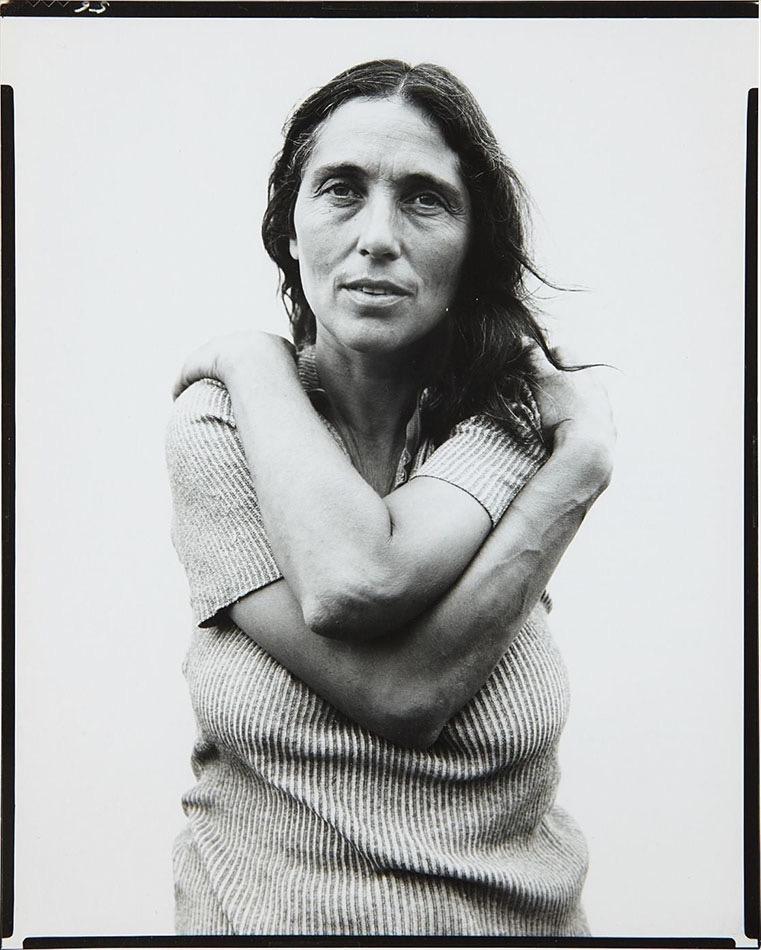 June Leaf, mujer de Robert Frank, fotografiada por Richard Avedon