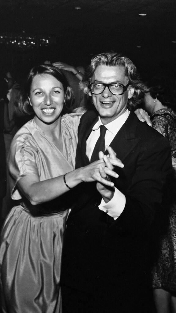Norma Stevens y Richard Avedon bailando en una fiesta. Foto: Susan Weddin, 1979.