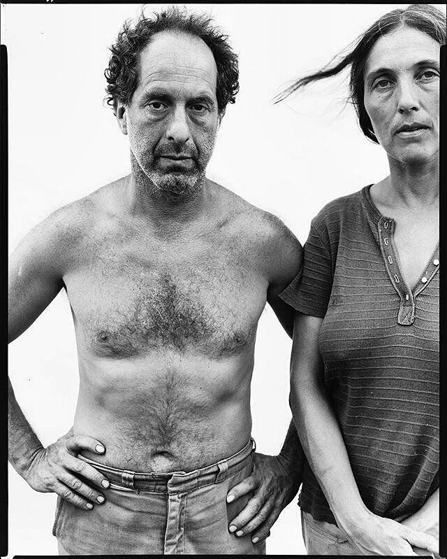 Robert Frank y June Leaf  fotografía de Richard Avedon