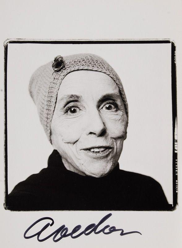 Retrato de la escritora Karen Blixen hecho por Richard Avedon