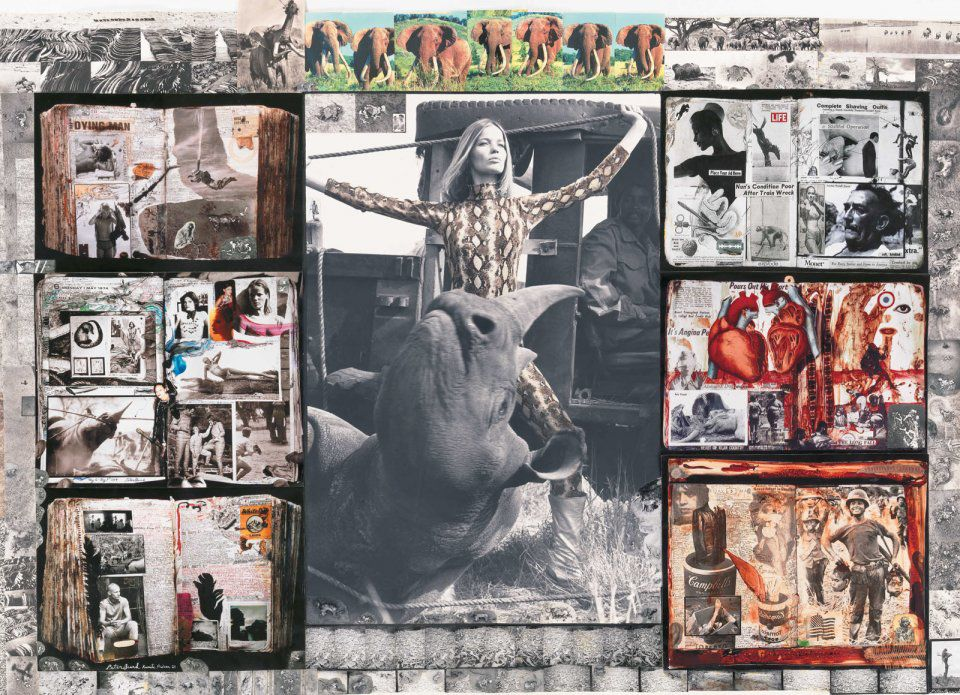 Collage del fotógrafo Peter Beard